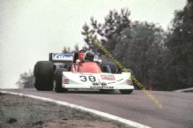 "MARCH 761  Bernard DeDryver  at speed 1977 Belgian GP. 10x7"" photo"